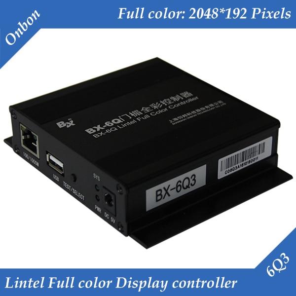 BX-6Q3 Ethernet And USB Port Lintel Full Color LED Display Control Card