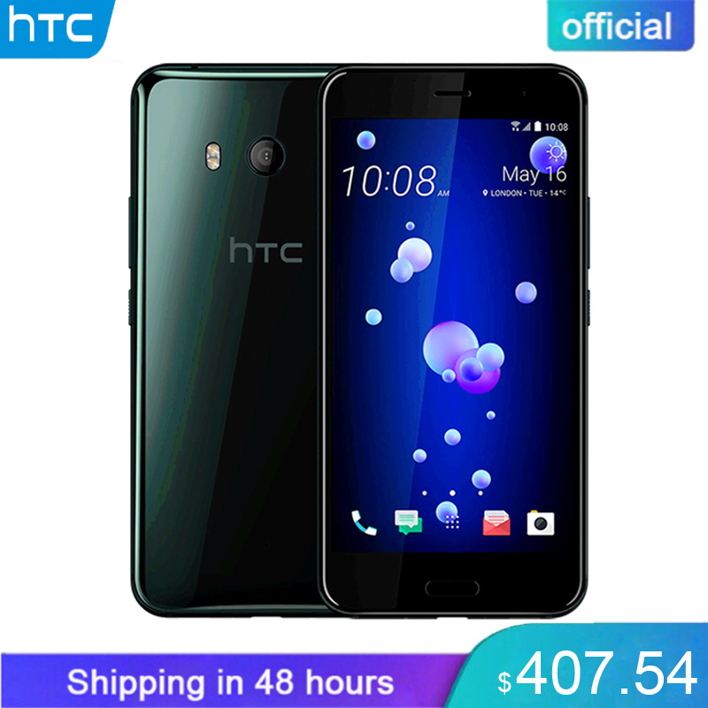 Original HTC U11 6 gb de RAM 128 gb ROM Snapdragon 835 4g LTE 5.5 polegada IP67 Impressão Digital À Prova D' Água 2560x1440 p 16.0 MP Telefone Móvel