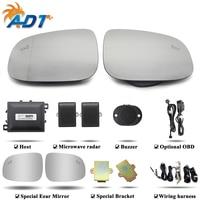 The Car Blind Spot Detection System BSD Microwave Radar Sensor Chang Lane LED Light Warning Buzzer Alarm BSM For V olvo