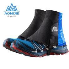 AONIJIE Sport Shoe Covers Outdoor Unisex Running Gaiters Protective Sandproof For Triathlon Marathon Hiking Reflective