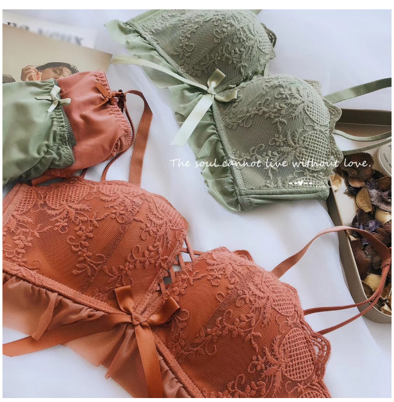 Women Sexy Lace Lingerie Bra Set Push Up Lingerie Set Adjusted-straps Underwear women Bra & brief And Panty Set (7)