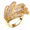 SuperDeals Top quality jewelry crystal wedding bouquets AAA Synthetic Cubic Zirconia Deluxe ring