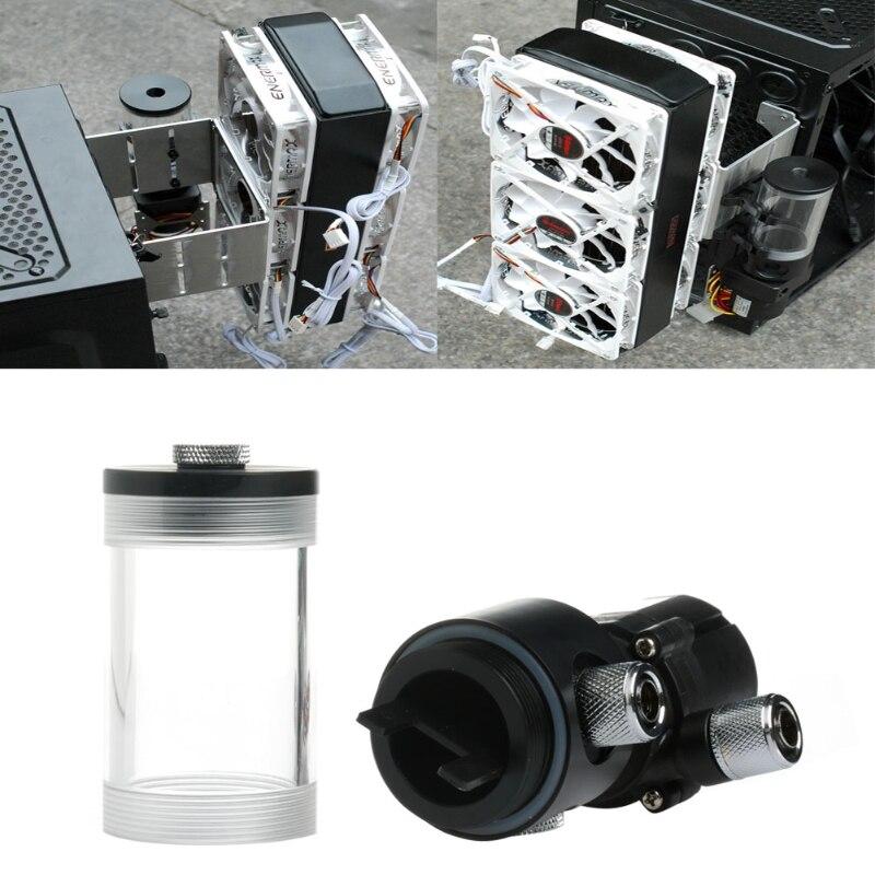 Nouveau 140mm cylindre réservoir d'eau SC600 pompe ordinateur refroidissement par eau radiateur 600L/H-in Kits domotiques from Electronique    3