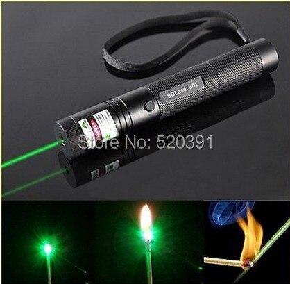 Haute Puissance 100 w 1000000 mw 532nm Laser Vert Pointeur Lazer Militaire SOS Brûler Match, Camping Signal Lampe Chasse brûler Cigarettes