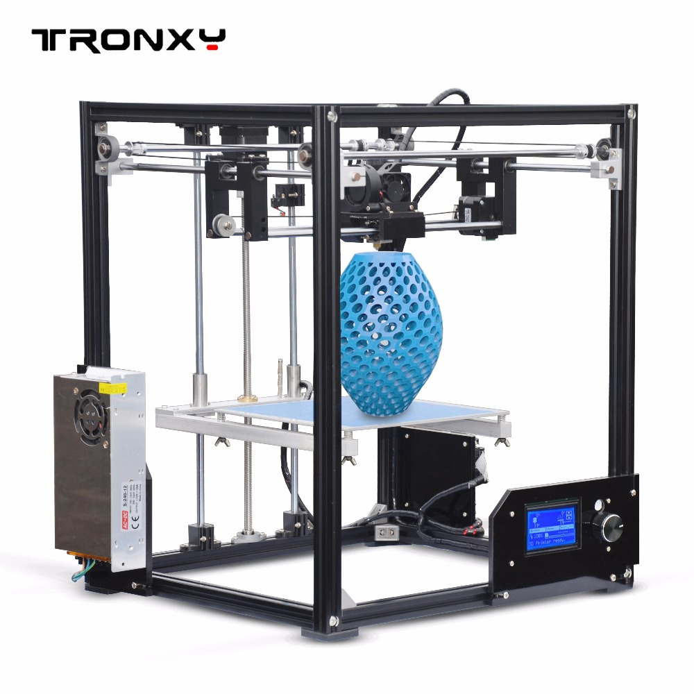 Tronxy X5 imprimante bricolage impression kits complets 12864 LCD affichage cadre en aluminium intégré