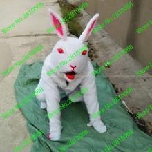 Сделать EVA материал шлем имитация белых кроликов талисман костюмы мультфильм одежда день рождения для вечеринок и маскарадов 879