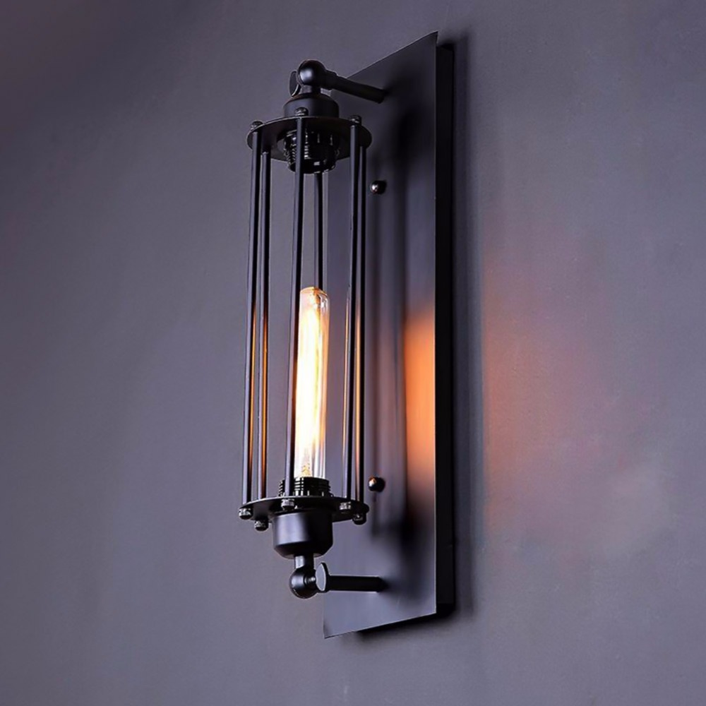 ФОТО New Vintage Style Lamp Creative Designers Balcony Stairs Bar Light American Style Retro Industry Alcatraz Rron Wall Sconce