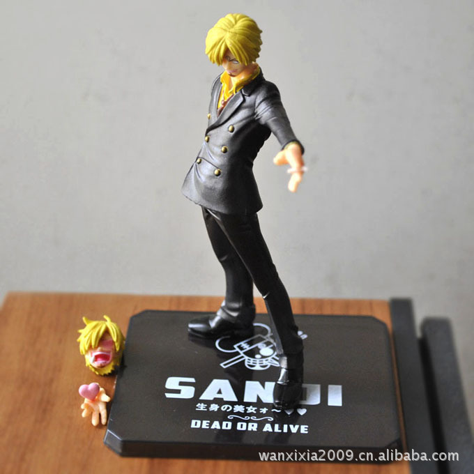 15CM One piece anime garge kits Sanji model two years later in the new world with