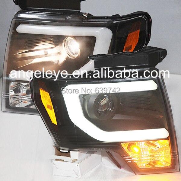 Для Ford F150 Raptor 2013 до 2014 головного света черный Цвет SN