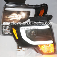 For FORD F150 Raptor 2013 TO 2014 Head Light Black Color SN