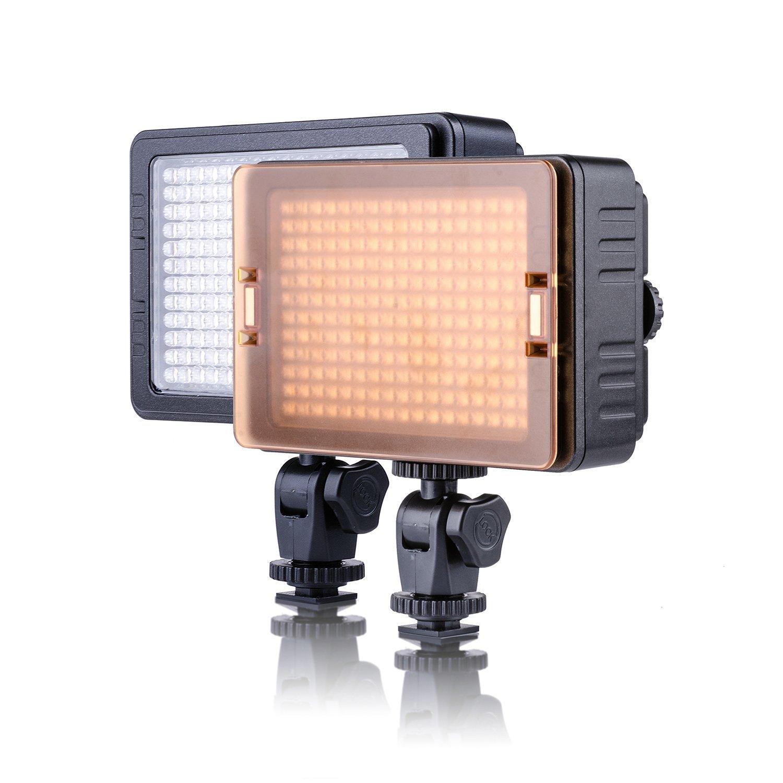 204 PCS Beads Led Video Light Magnetic 3200K 5600K Filter Installation Stepless Adjustment for Camera Camcorder PT-C-204S
