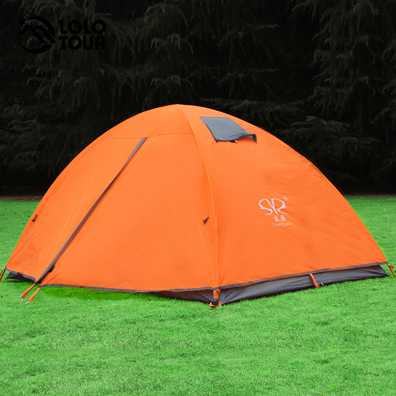 Outdoor Camping 2 Person Waterproof Tent Tourist hiking Equipment Beach Tente Aluminum Rod Ultralight Hunting Fishing Tenda brand 1 2 person outdoor camping tent ultralight hiking fishing travel double layer couples tent aluminum rod lovers tent
