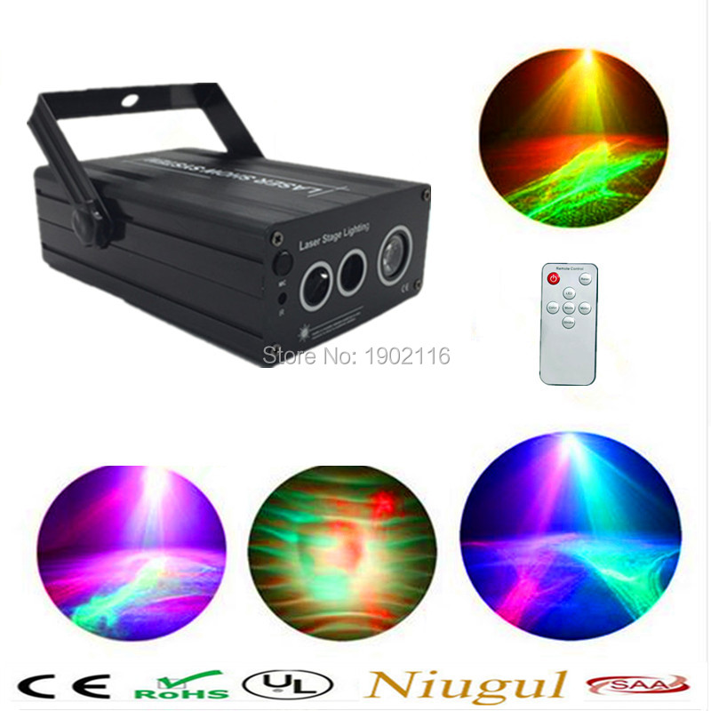 Remote led wave effect Laser Show Lighting RGB  Scanner Party Light LED Projector Fantastic Full Color Xmas laser Free shipping laser head wave music system awrcc7
