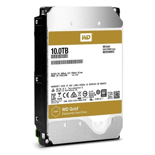 Western Digital WD Gold HDD 10TB Enterprise Class Hard Disk Drive  7200 RPM Class SATA 6 Gb/s 128MB Cache 3.5 Inch  WD101KRYZ