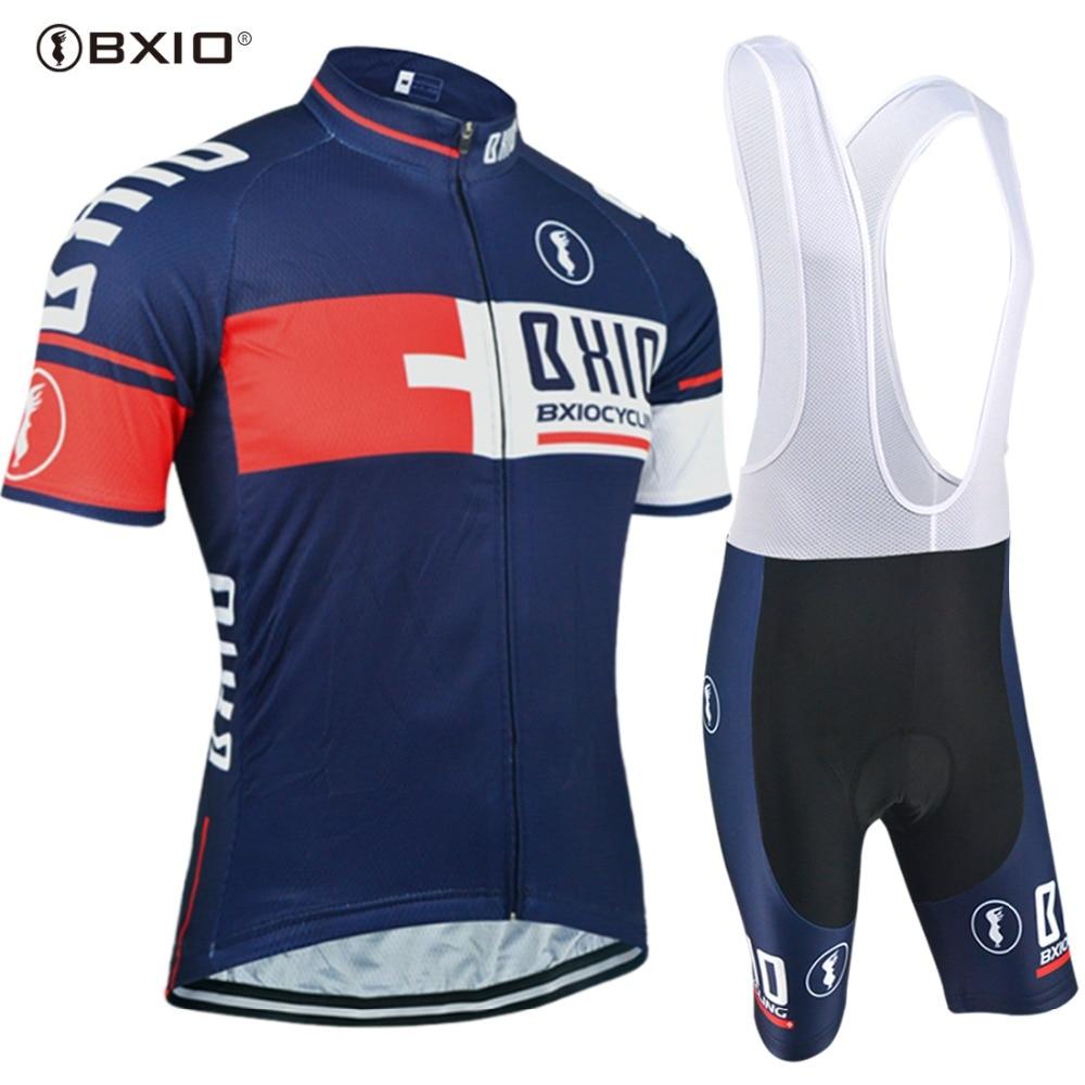 Prix pour BXIO Marque Top Vente Vélo Jersey Définit Bike Équipe Anti-Boulochage Au Fil du Taille Hommes Vélo Vêtements Multi Couleur Ropa Ciclismo