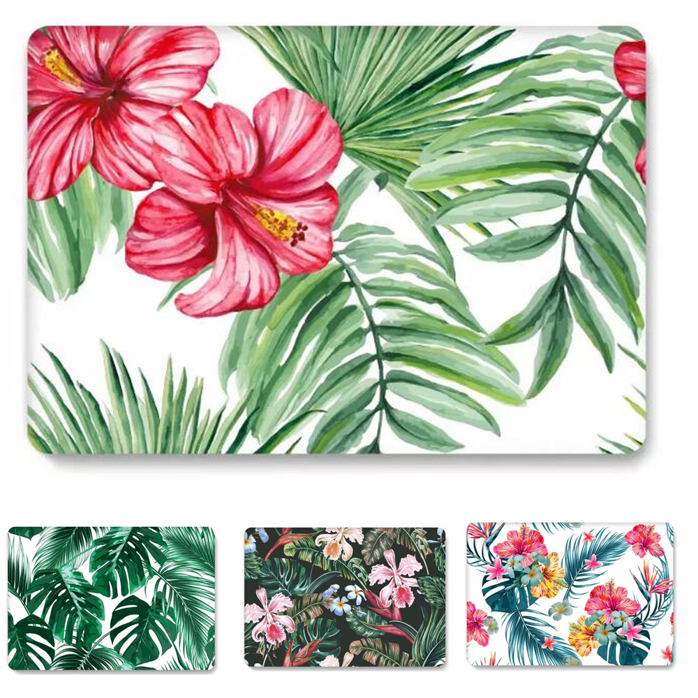 Leaf Flower Hard Case Cover For Macbook Air 13 11 Pro 13.3 12 15 15.4 Protective Shell For Apple Mac Pro 13 Case Fashion Sleeve цена и фото