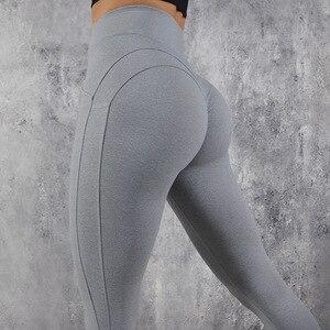 Image 3 - ผู้หญิง CHRLEISURE ออกกำลังกายกางเกงขายาว Push Up Fitness Leggings หญิงแฟชั่น Patchwork Leggings Mujer 3 สี