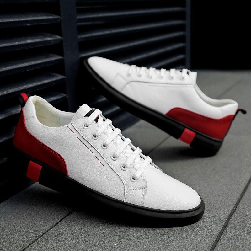 Homens Skate Sapatos Grandes Sapatos de Tamanho 47 sapatas do Esporte de  couro Genuíno Sapatilhas dos 51d2282db58