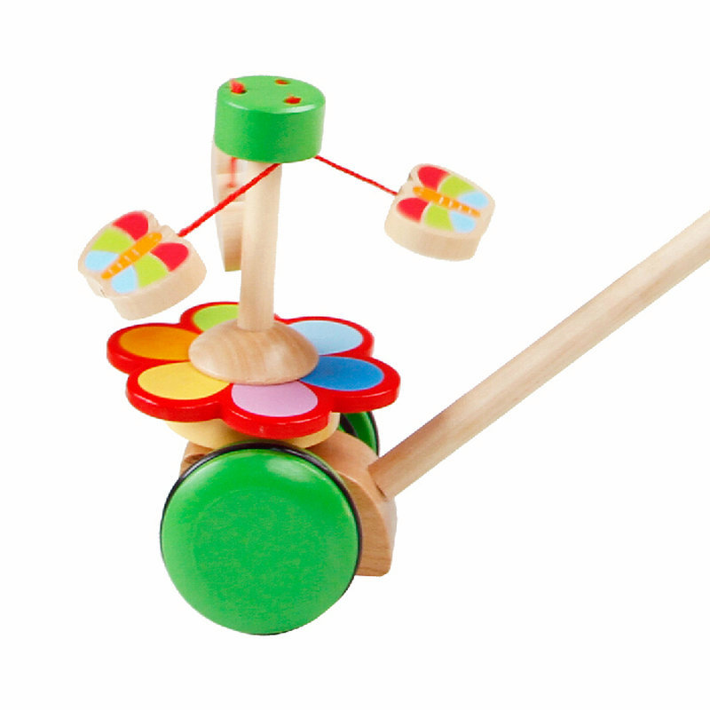 Hand pushed Toy Brick Car Rotating Butterfly Children 39 s Animal Push amp Pull Car Animal trolley Baby Wooden Hand pushed Kada Car in Screwing Blocks from Toys amp Hobbies