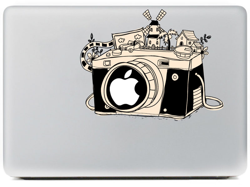 Classic M8 camera Vinyl Decal Sticker for DIY Macbook Pro / Air 11 13 15 Inch Laptop Case Cover Sticker