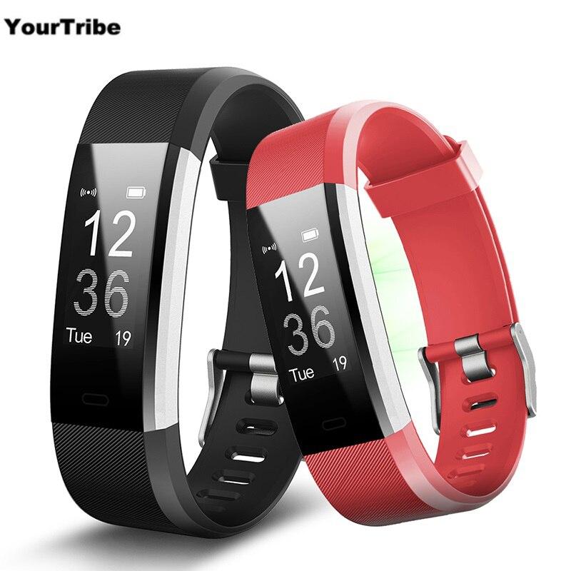 ID115HR Plus Smart Wristband Heart Rate Monitor Fitness tracker Smartband Bracelet Wrist Band