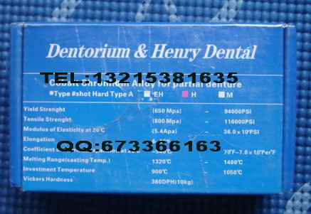 1KG Dental Lab Materials Dental Alloy Cobalt-chromium Alloy For Metal Cast Denture Partial