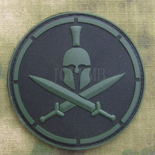 Hijau DEVGRU US NAVY Seal Team Spartans Tactics Moral 3D PVC patch PB830 AOR(China)
