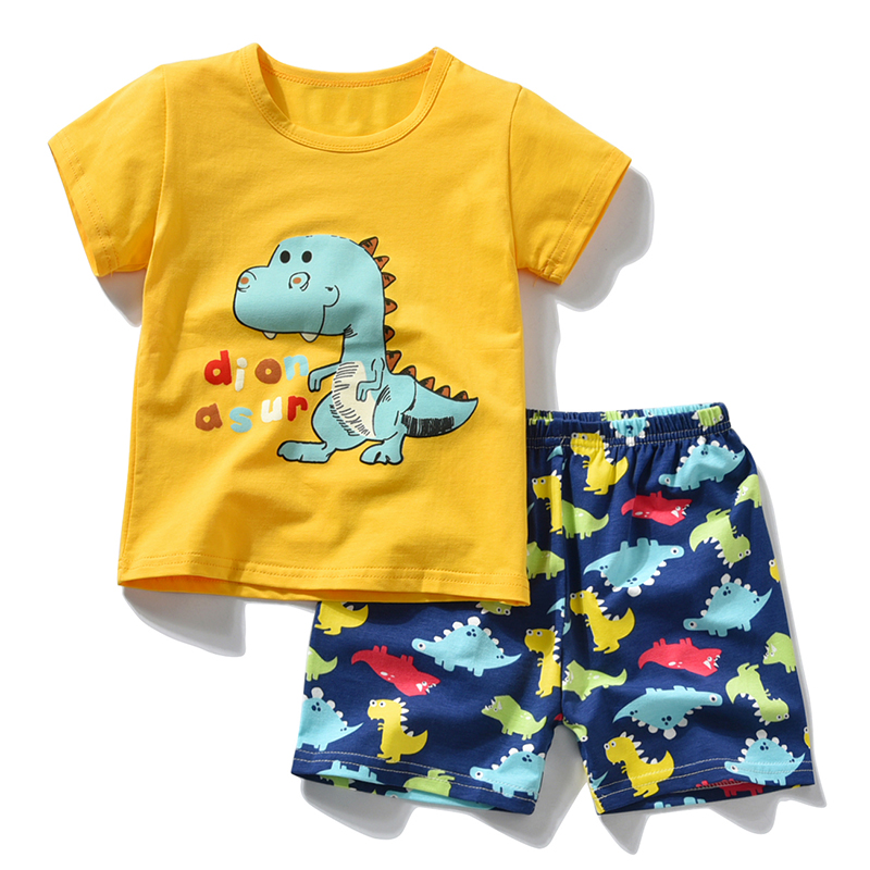 Children Sports Suit For Boys Girls Kids Clothes Summer 2018 Clothing Set Toddler Fashion Dinosaur Boys Girls Tracksuit Suits spring children sports suit tracksuit for girls kids clothes sports suit boy children clothing set casual kids tracksuit set 596
