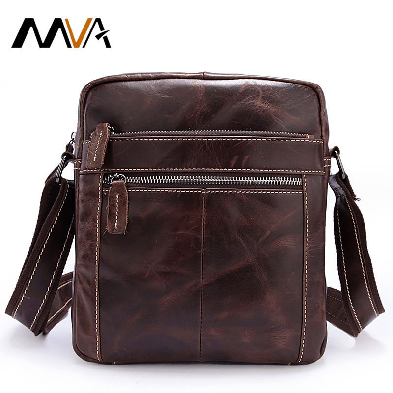 ФОТО MVA  Cowhide Genuine Leather Men Bag Crossbody Bags Men Messenger Bags Vintage Small Men's Bag Casual Flap Handbags Male