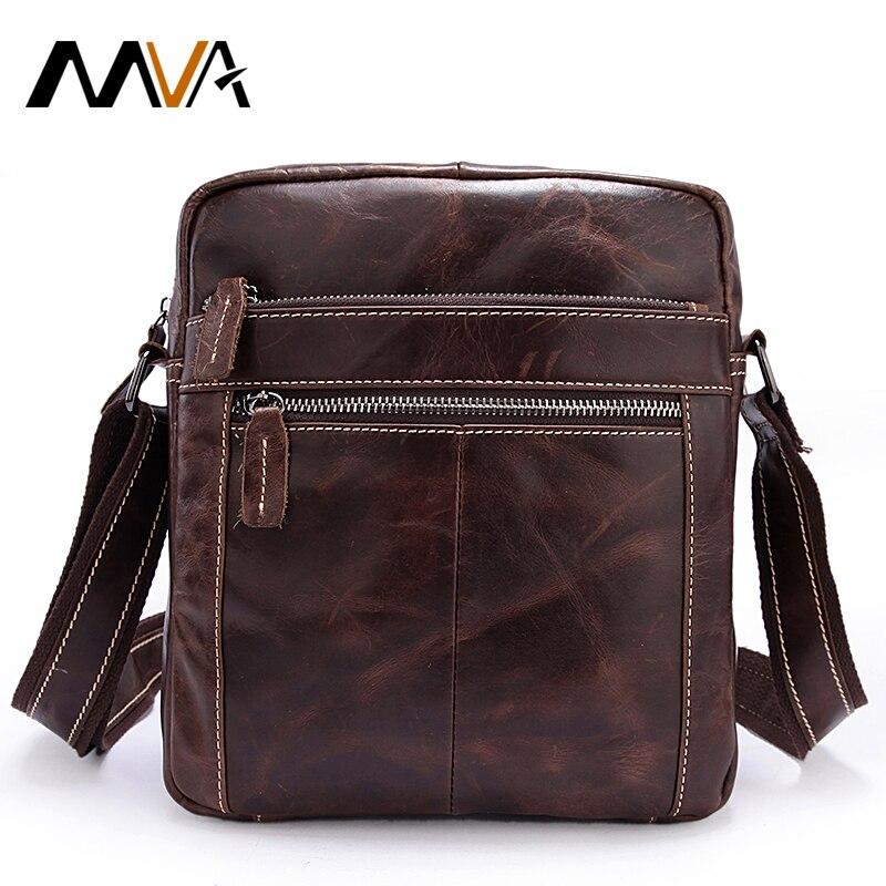 MVA Lelaki Bahu Beg Kulit Asli Lelaki Beg Vintage Crossbody Bags - Beg tangan - Foto 1