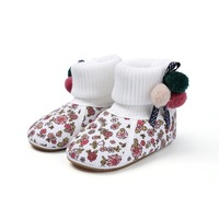 S013 New Winter Newborn Baby Knitted Warm Pre-walker Shoes Infant Boy Girl Toddler Antislip First Walkers Crib shoes