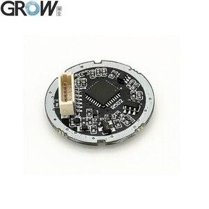 Image 2 - GROW R502 DC3.3V mała okrągła niebieska czerwona dioda LED MX1.0 6pin pojemnościowa kontrola dostępu za pomocą odcisków palców czujnik modułu skanera