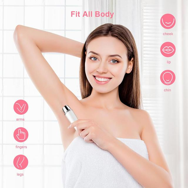 Electric Hair Removal Instrument Painless Eyebrow Trimmer Epilator for Women Portable Hair Removal Razor 5