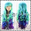 xiuli 0057 LZ030 Crazy Girls Wavy Wig 3 Color Mixed Hair Long Lady