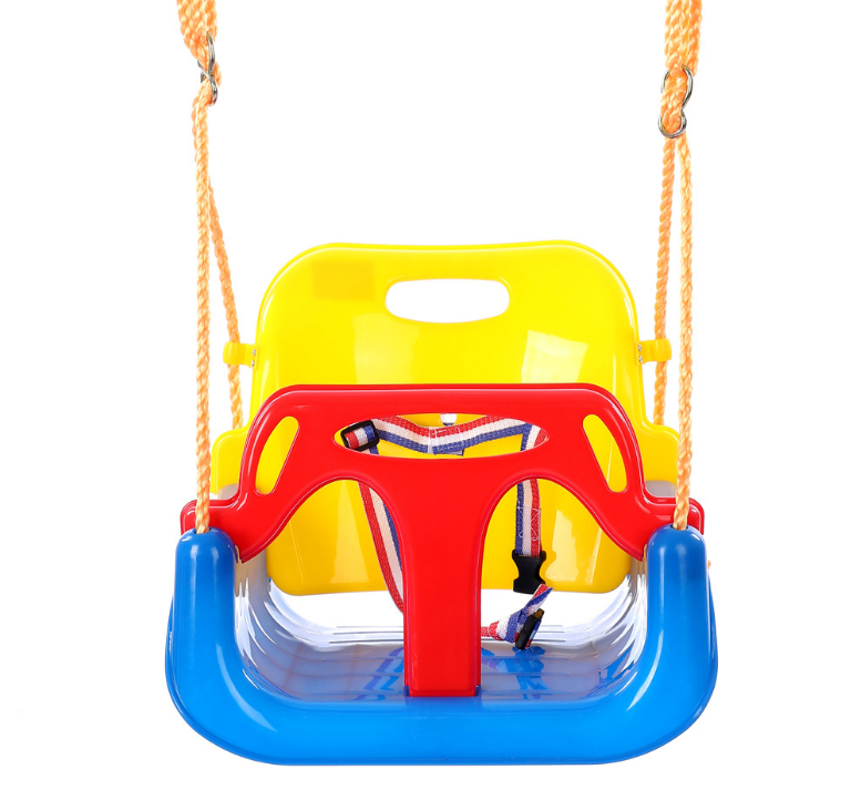 Environmental Plastic Bright Colors Children's Swing Three in one Infant Baby Swing Accessories For Infants Adolescents LF118 Patio Swings Furniture - title=