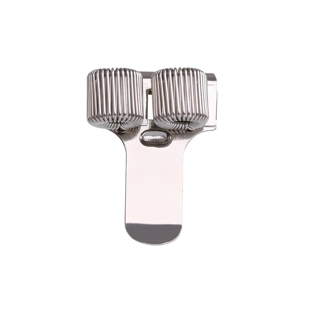 1 предмет одноместный/двухместный/тройной отверстие металлическая пружина для ручек держатель с зажимом для кармана врач-медсестра форма подставки для ручек, офисные и школьные принадлежности - Цвет: 2