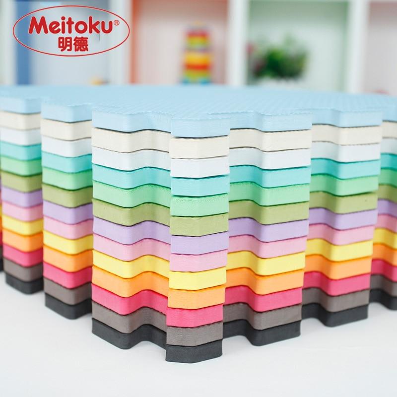 Meitoku Baby EVA Foam Play Puzzle Mat/9pcs/lot Interlocking Exercise Tiles Floor Mat For Kid,Each 32cmX32cm