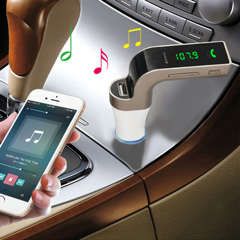Bluetooth Handsfree Car Kit FM wireless transmitter MP3 music player USB 3.5mm audio cable connect support TF card USB charging 1
