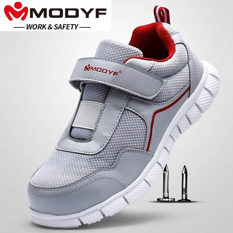 MODYF Steel Toe Cap Work Safety Shoes Breathable Lightweight Casual Sneaker Non Slip Soft Sole Puncture Proof With Magic Tape MODYF Steel Toe Cap Work Safety Shoes Breathable Lightweight Casual Sneaker Non Slip Soft Sole Puncture Proof With Magic Tape