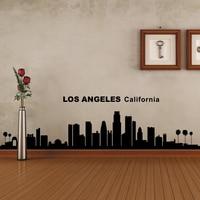 Los Angelesรัฐแคลิฟอร์เนียซิตี้S Kyline Silhouetteรูปลอกผนังไวนิลศิลปะอ้าง56