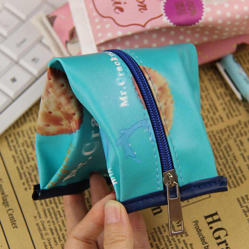 1 PC קוריאה כיף Macaron עוגיות שקיות עיפרון כתיבה יצירתית תלמידי חטיף קלמר לתת לילדים מתנת יום הולדת