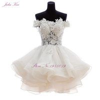 Graceful Fabolous Organza Sweetheart Ball Gown Prom Dress With Beaded Appliqued Tulle Knee Length Short Formal