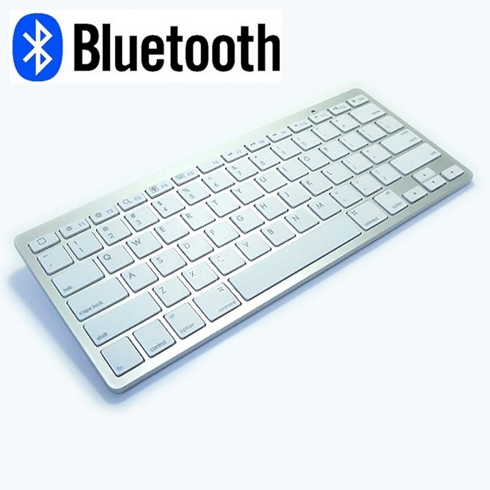 Mini Bluetooth Wireless White Keyboard Mouse Gaimg ...