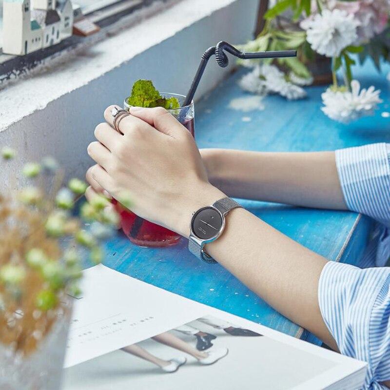 2019 Com a Avaliação de Jóias Liquidação de Fábrica Natural Preto Ágata Pulseira Relógios Automático Relógio De Quartzo Das Mulheres UM Se Comprometa - 5