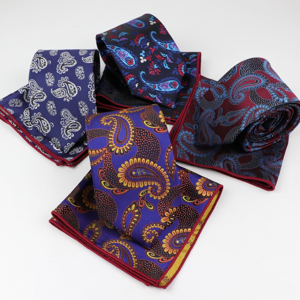 Lot 9 Pieces Men/'s Neck Tie Paisley Silk Skinny Slim Narrow Necktie Men Ties