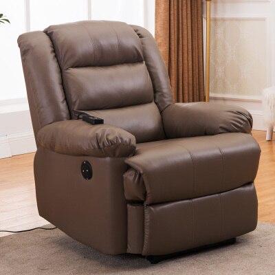 Европейский первый класс кабина Диван офисный дом Многофункциональный один диван стул лежа стул - Цвет: brown