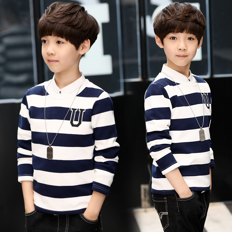 Boys T-Shirt Clothing Tops Long-Sleeve Kids Cotton New-Design Children's Garcon Strudents