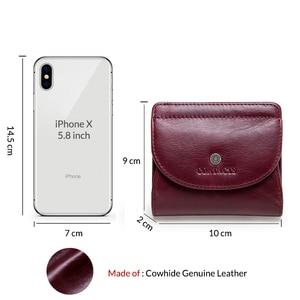 Image 3 - Маленький кошелек из натуральной кожи с отделением для карт для женщин