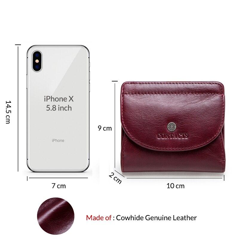 Genuine Leather Women Wallet Fashion Coin Purse For Girls Female Small Portomonee Lady Perse Money Bag Card Holder Mini Clutch