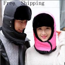 2016 New Warm hat Winter Outdoor Windproof Thick Winter Gloves Warm Snow Women Face Mask Motorcycle Cap Men Hat